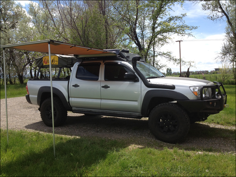 Not much shade on itu0027s own but itu0027s nice to have. With the tent open it makes a nice shaded porch area & Project Serenity: an 08 Tacoma DC overland build-up - Expedition ...